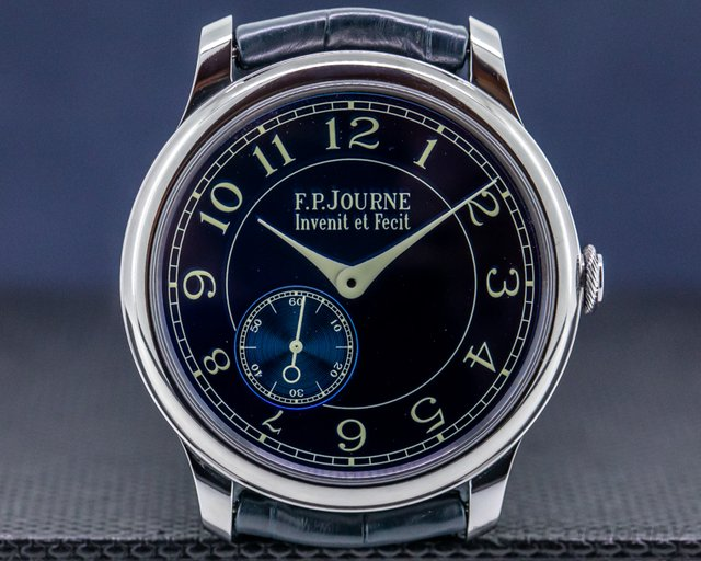 F. P. Journe CB Chronometre Bleu Tantalum Blue Dial