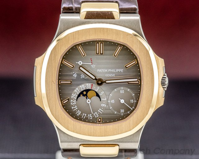 Patek Philippe 5712GR-001 Jumbo Nautilus 18K White / Rose Gold FULL SET