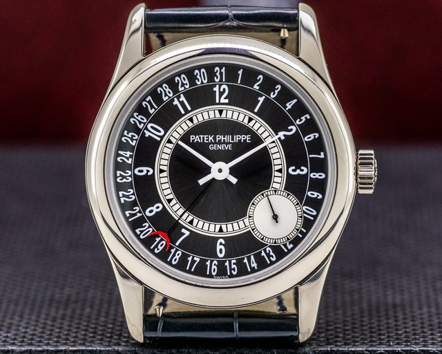 Patek Philippe 6000G-010 Calatrava Grey Dial 18K White Gold / Deployant