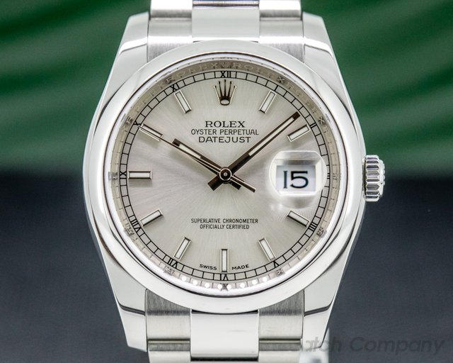 Rolex 116200 Datejust Silver Stick Dial Oyster SS