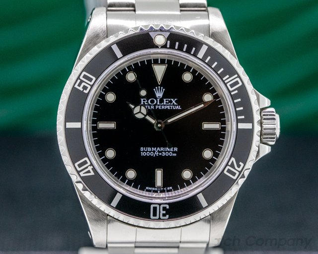 Rolex 14060 Submariner No Date SS 2 Line FULL SET