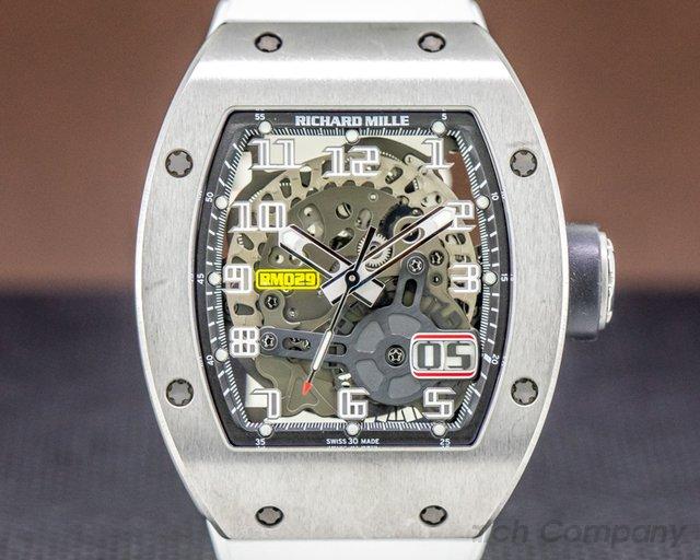 Richard Mille RM029 Richard Mille RM20 Automatic Oversize Date Titanium / White Rubber
