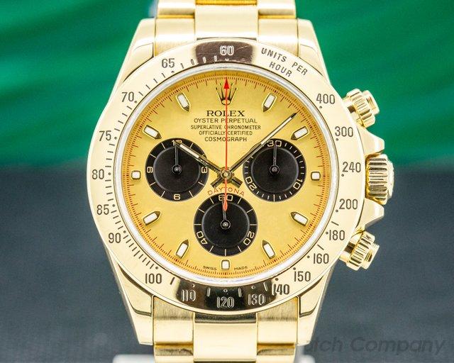 Rolex 116528 Daytona 18K Yellow Gold / Gold Dial