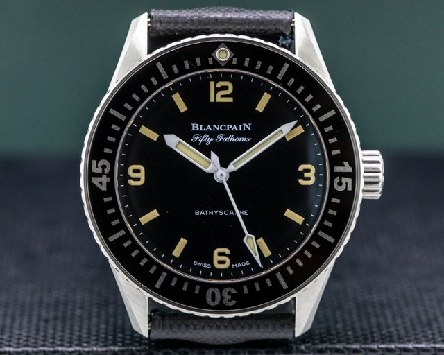 Blancpain 5100-1110-63a Fifty Fathoms 38mm Bathyscaphe for HODINKEE