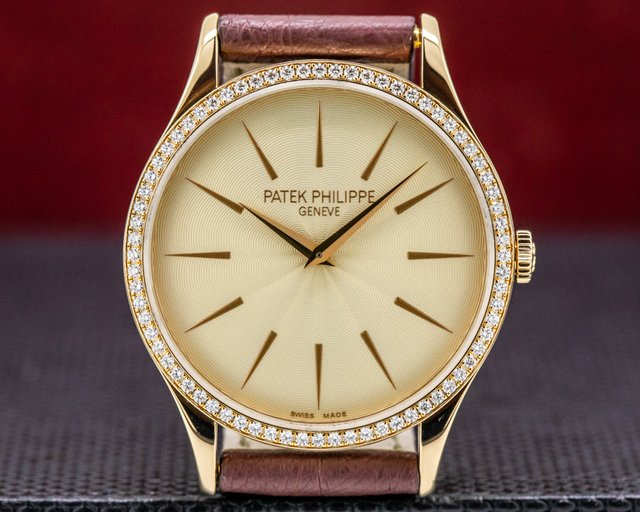 Patek Philippe 4897R Calatrava Ladies 18K Rose Gold Diamonds Manual Wind 33MM