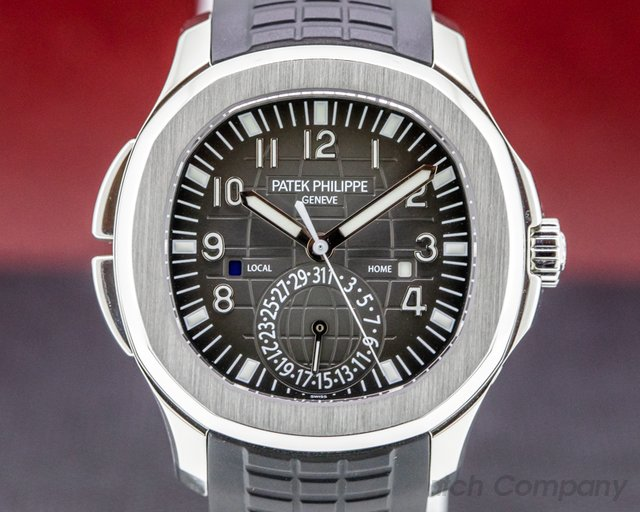 Patek Philippe 5164A-001 Aquanaut 5164 Travel Time SS / Rubber