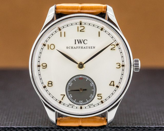 IWC IW545405 Portuguese Manual Hand Wound Silver Dial 44MM