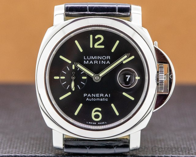 Panerai PAM00104 Luminor Automatic SS Black Dial