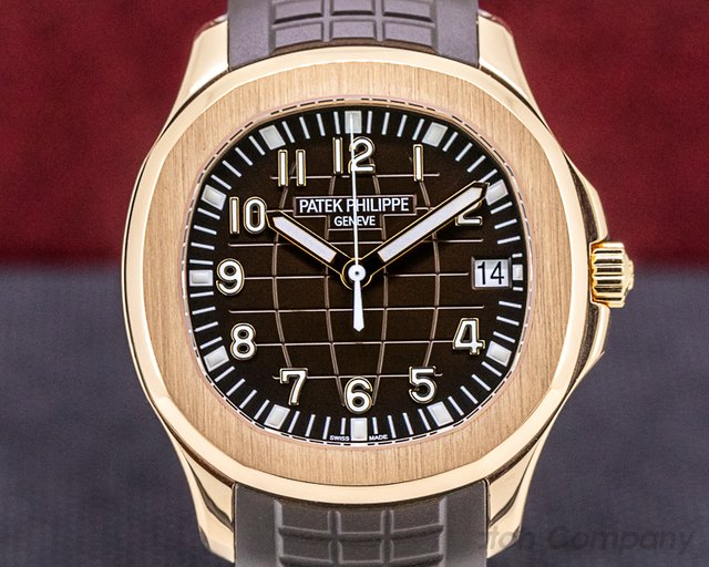 Patek Philippe 5167R-001 Aquanaut 18K 5167R Rose Gold / Brown Dial