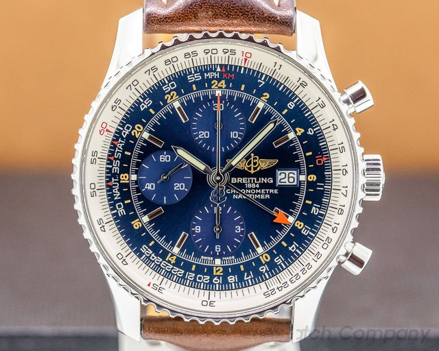 Breitling A2432212/C651 Navitimer World Chronograph Blue Dial SS