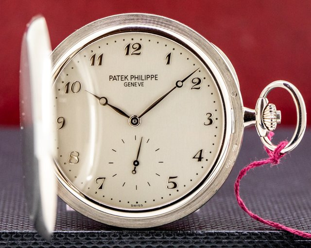 Patek Philippe 980G-010 White Gold Hunter Pocket Watch 48MM