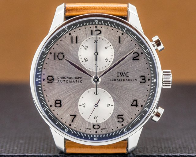 "IWC IW371493 Portuguese Chronograph LTD ""Zurich Boutique"" SS Silver Dial"