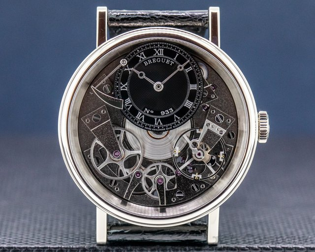 Breguet 7057BB/G9/9W6 La Tradition Black Dial / 18K White Gold 40MM