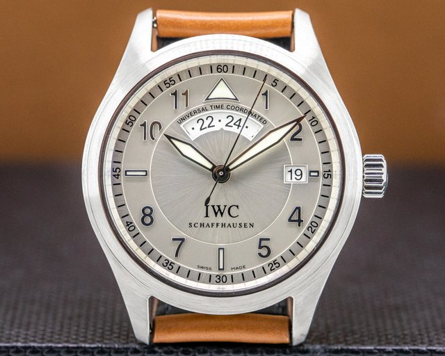 IWC 325107 UTC Spitfire SS Silver Dial