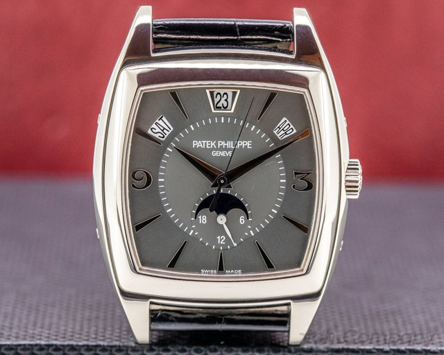 Patek Philippe 5135G-001 Gondolo Calendario 5135G 18K White Gold Grey Dial