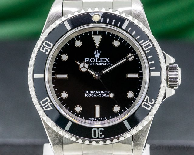 Rolex 14060 Submariner No Date SS 2 Line