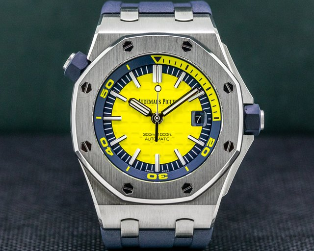 Audemars Piguet 15710ST.OO.A051CA.01 Royal Oak Offshore Diver Yellow / Rubber