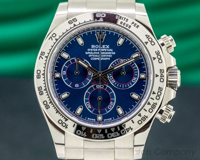 Rolex 116509 Daytona 116509 Blue Dial 18K White Gold