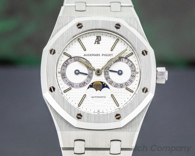 Audemars Piguet 25594ST.OO.0789ST.04 Royal Oak Day Date Moon White Dial SS