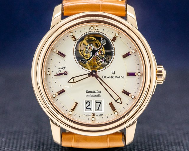 Blancpain 2825A-3642 Leman Tourbillon 18k Rose Gold Power Reserve LIMITED
