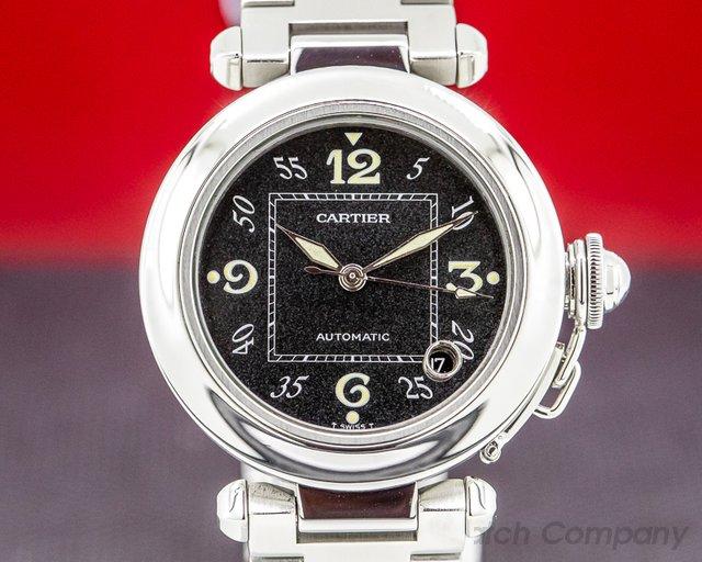 Cartier 2324 Pasha C Black Dial SS