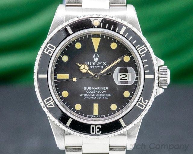 "Rolex 16800 Submariner ""Transitional"" 16800 Matte Dial"