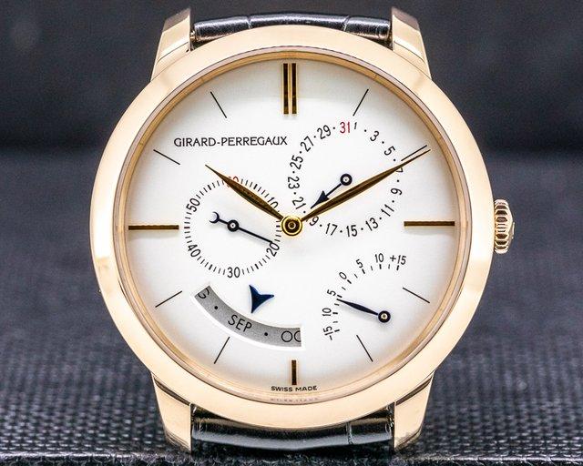 Girard Perregaux 49538-52-131-bk6a 1966 Annual Calendar Equation of Time 18k Rose Gold