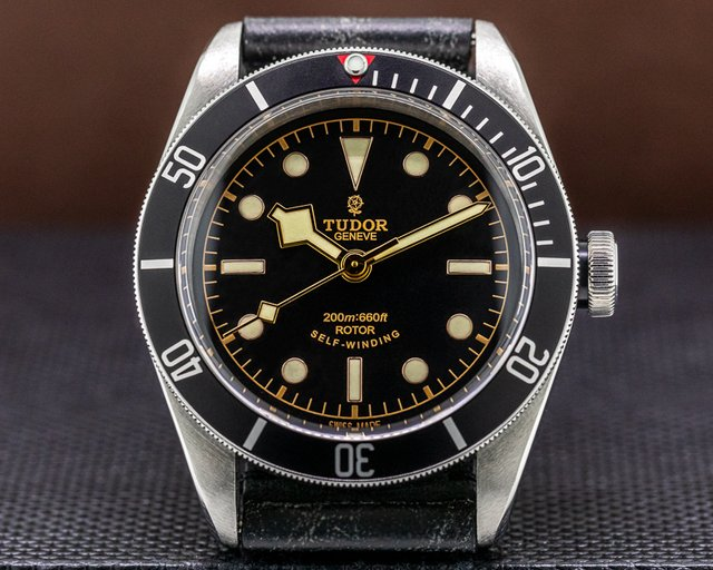 Tudor 79220N Tudor Heritage Black Bay BLACK SS / Leather