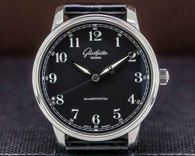 Glashutte Original 1-36-01-03-02-01 Senator Excellence SS Black Dial