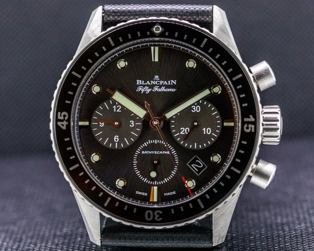 Blancpain 5200-1110-B52A Fifty Fathoms Bathyscaphe Flyback Chronograph SS