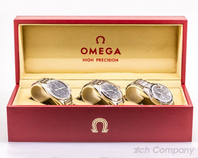 Omega 311.10.39.30.01.002 1957 Trilogy Set Limited Edition 3 Watch Set FULL SET MINT