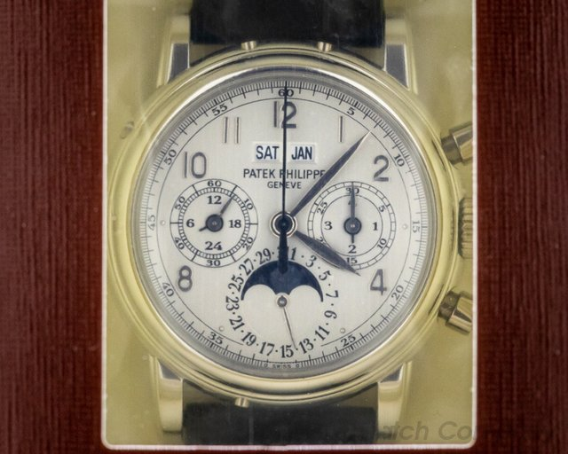 Patek Philippe 5004P-033 Perpetual Calendar Split 5004 Platinum DOUBLE SEALED