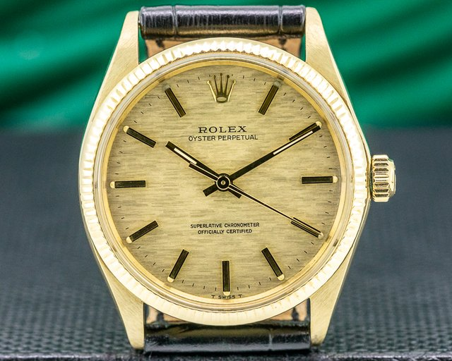 Rolex 1005 Oyster Perpetual 14K Yellow Gold