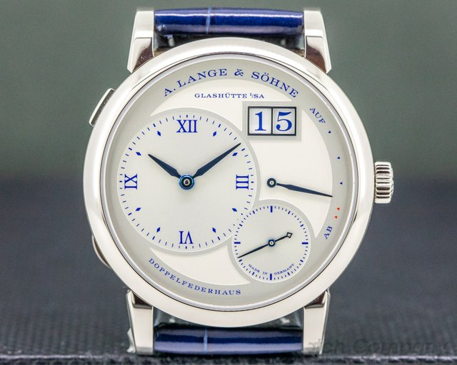 A. Lange and Sohne 191.066 Lange 1 25th Anniversary 191.066 18k WG Half Hunter LIMITED