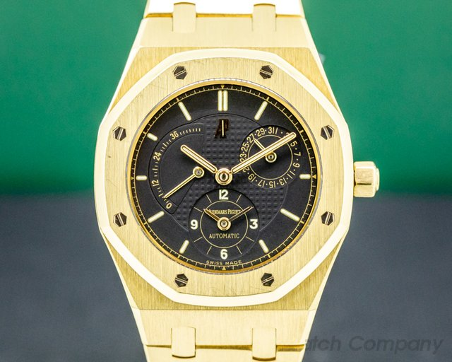 Audemars Piguet 25730BA/O/0789BA/04 Royal Oak Dual Time 18K Yellow Gold Black Dial 36MM