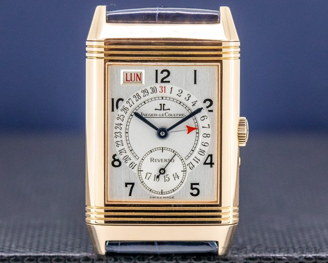 Jaeger LeCoultre 270.2.36 Reverso Calendar Grand Taille Day Date 18K Rose Gold