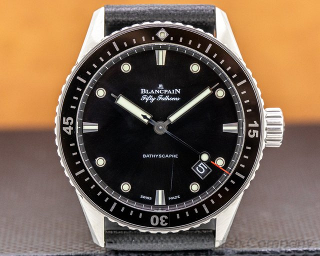 Blancpain 5000-1230-b52a Fifty Fathoms Bathyscaphe Automatic Titanium