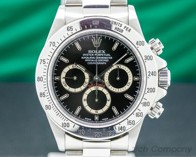 Rolex 16520 Daytona SS Black Dial Zenith Movement W Series