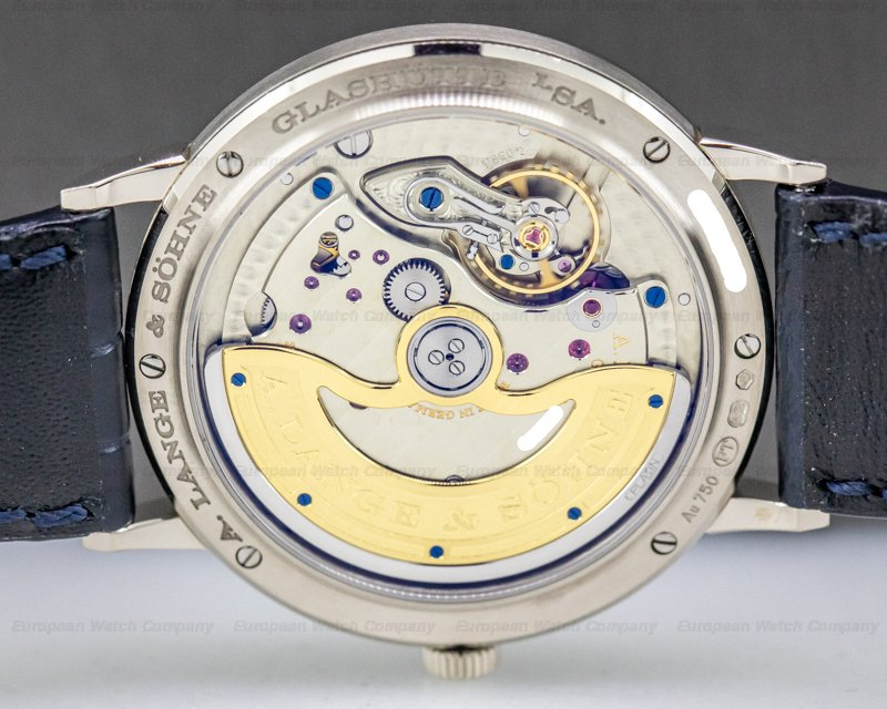 A. Lange and Sohne 380.026 Saxonia BLUE DIAL Automatik 18K White Gold NOVELTY