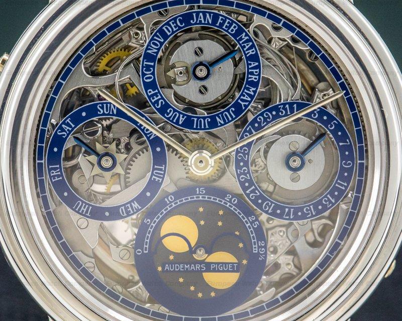 Audemars Piguet 25668PT Quantieme Perpetual Calendar Platinum Skeleton COMPLETE RARE WOW