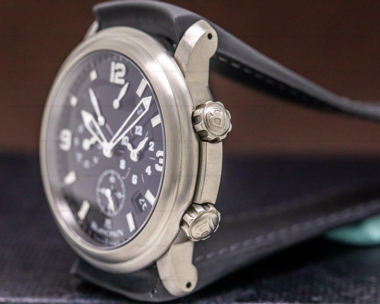 Blancpain 2041-1230-64B Leman Alarm GMT Titanium / Strap