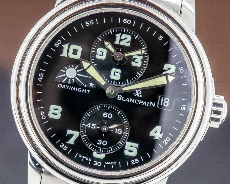 Blancpain 2160-1130M-71 Timezone Military Dial SS