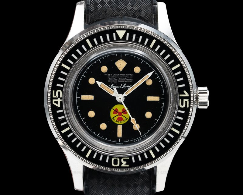 "Blancpain No Radiation Aqua Lung Vintage Fifty Fathoms Aqualung ""No Radiation"""