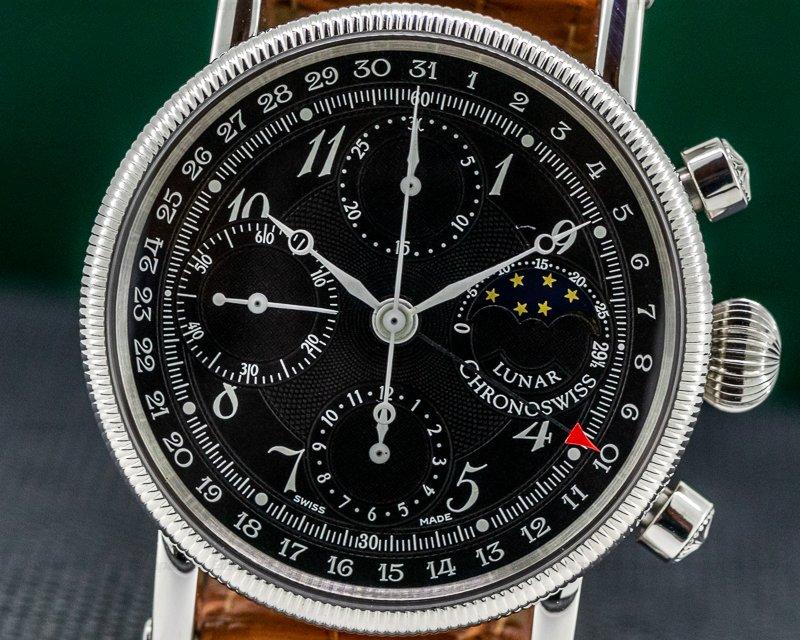 Chronoswiss CH 7523 Lunar Chronograph SS Black Dial