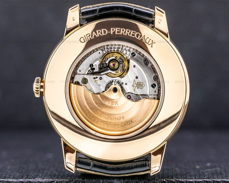 Girard Perregaux 49538-52-131-bk6a 1966 Annual Calendar Equation of Time 18k Rose Gold
