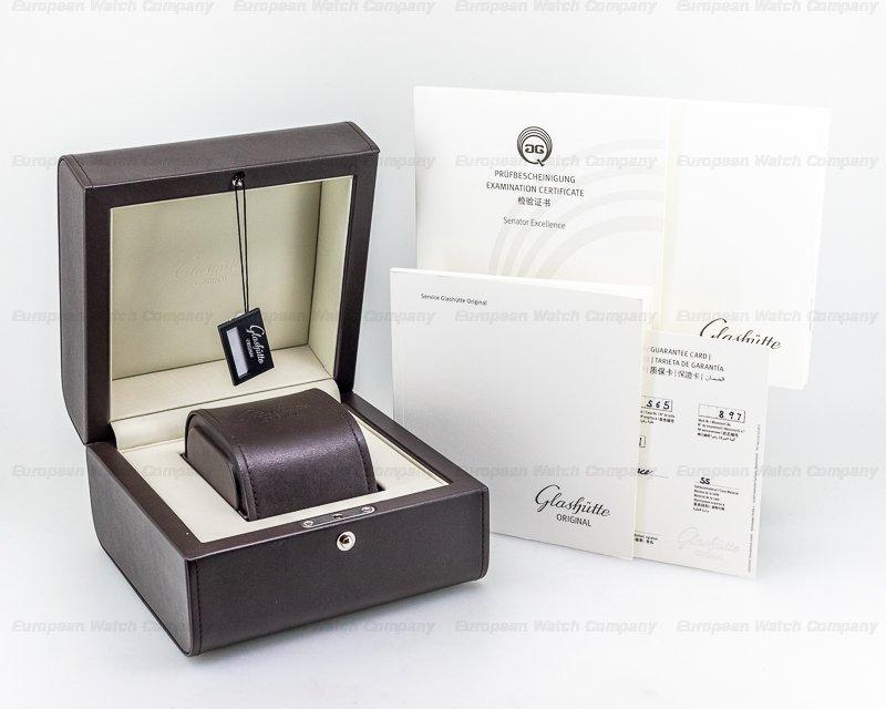 Glashutte Original 1-36-01-03-02-01 Senator Excellence SS Black Dial