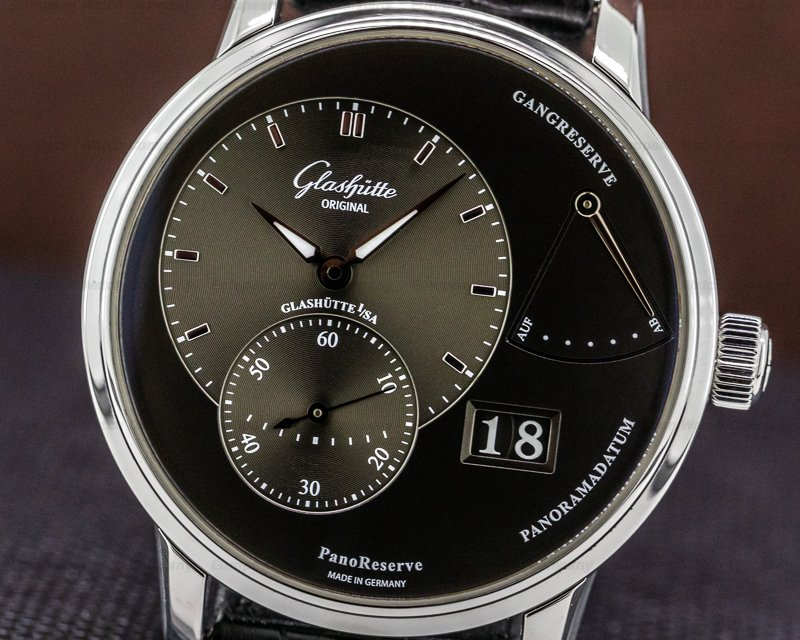 Glashutte Original 1-65-01-23-12-04 PanoReserve Manual Wind Grey Dial SS