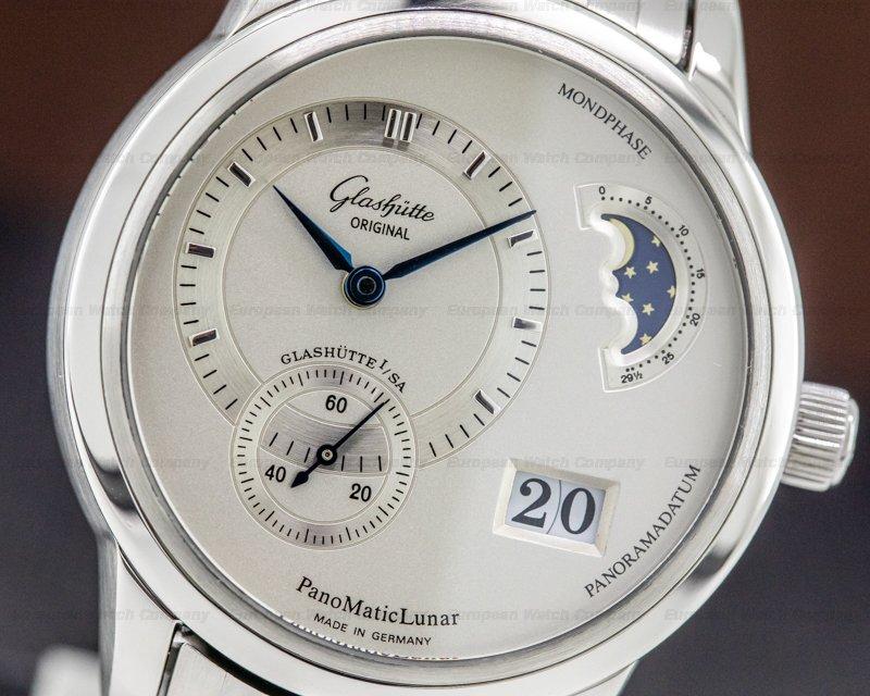 Glashutte Original 90-02-02-02-04 PanoMaticLunar SS Silver Dial Bracelet