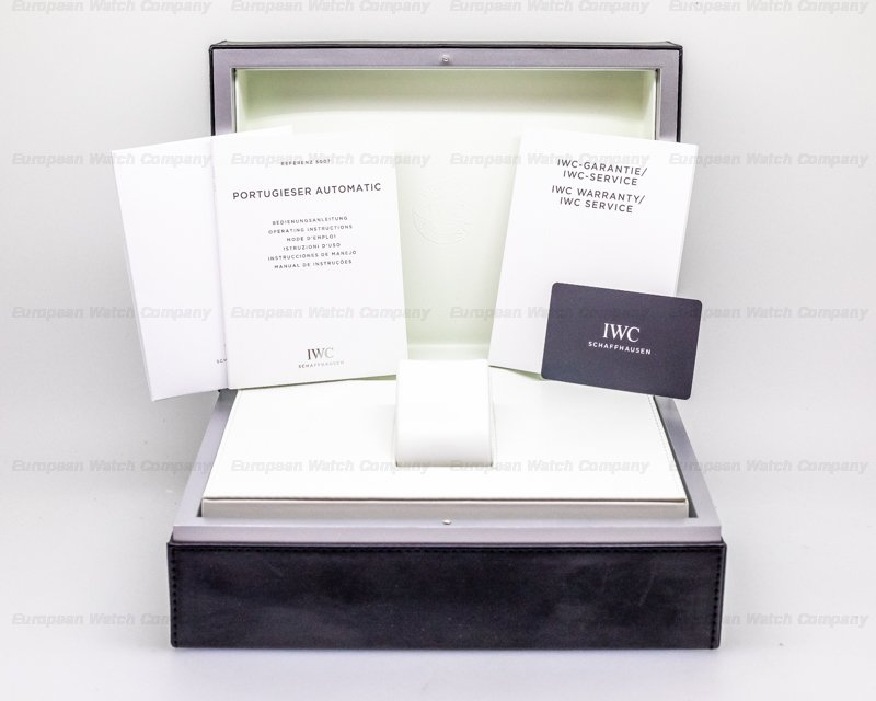 IWC IW500703 Portuguese 7 Day Automatic SS Black Dial Silver Numerals