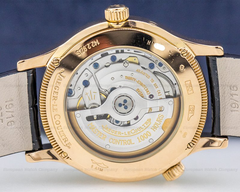 Jaeger LeCoultre 142.2.92.S Master Geographic 18K Rose Gold Black Dial
